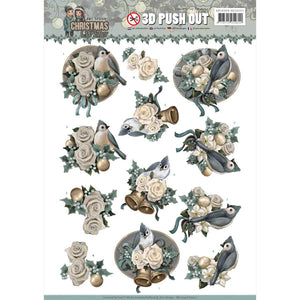 Christmas Wishes Die Cut Decoupage - Birds & Bells