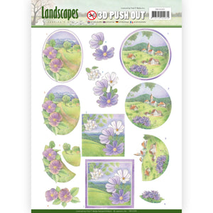 Landscapes Die Cut Decoupage - Spring