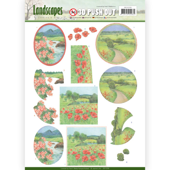 Landscapes Die Cut Decoupage - Summer