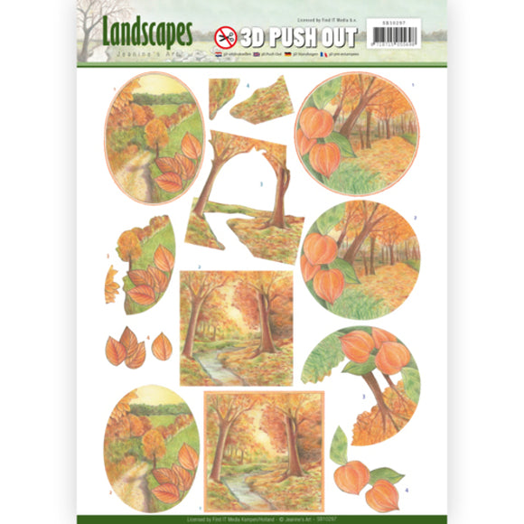 Landscapes Die Cut Decoupage - Autumn