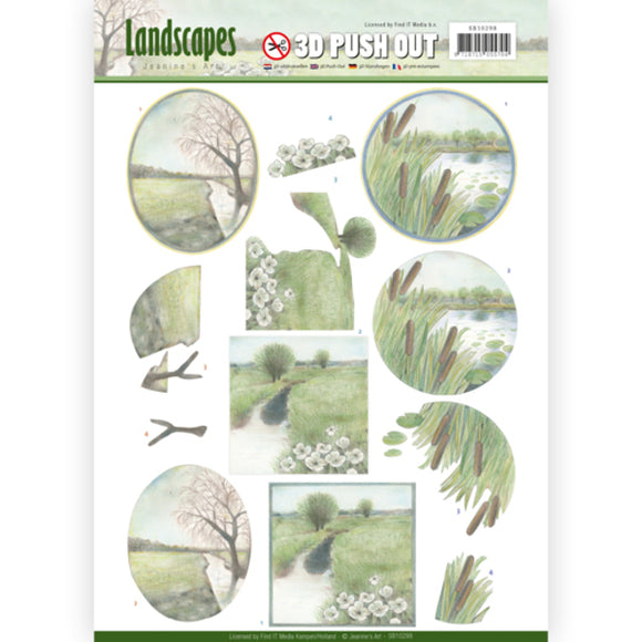 Landscapes Die Cut Decoupage - Winter