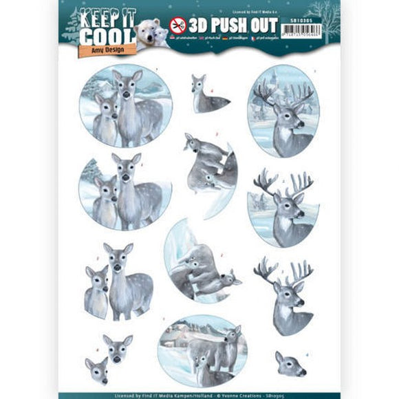 Keep it Cool Die Cut Decoupage - Cool Deer