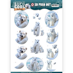 Keep it Cool Die Cut Decoupage - Cool Bears