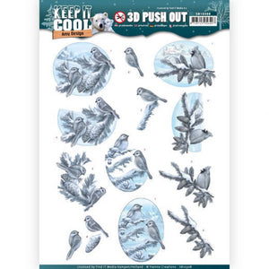 Keep it Cool Die Cut Decoupage - Cool Birds