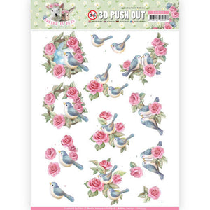 Spring is Here Die Cut Decoupage - Birds & Roses