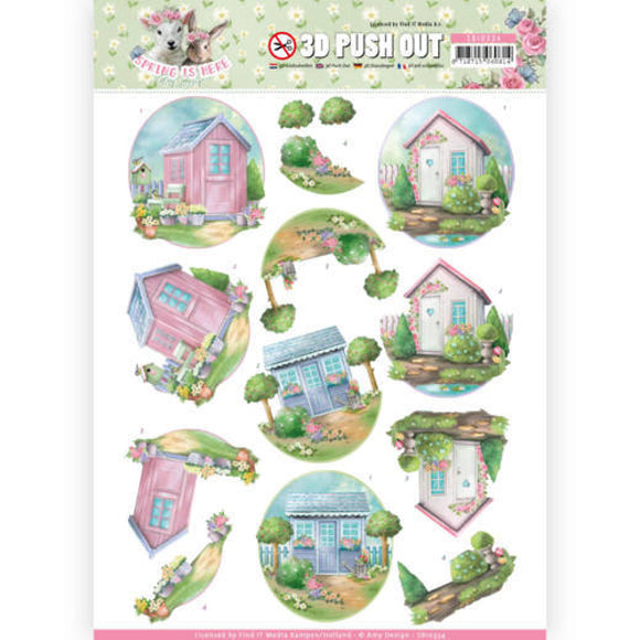 Spring is Here Die Cut Decoupage - Garden Sheds