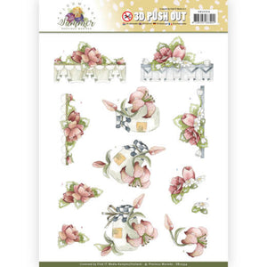 Blooming Summer Die Cut Decoupage - Red Summer Flowers