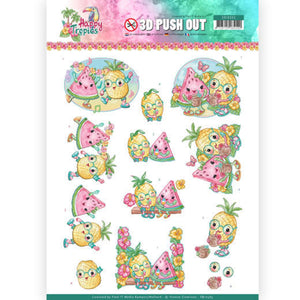 Happy Tropics Die Cut Decoupage - Tropical Fruits