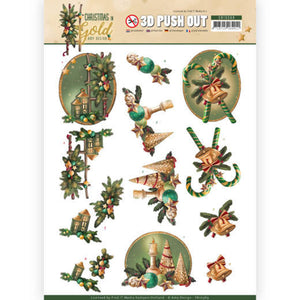 Christmas in Gold Die Cut Decoupage - Lanterns