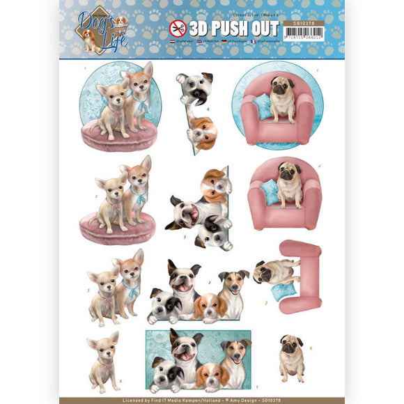 Dog's Life Die Cut Decoupage - All kinds of Dogs
