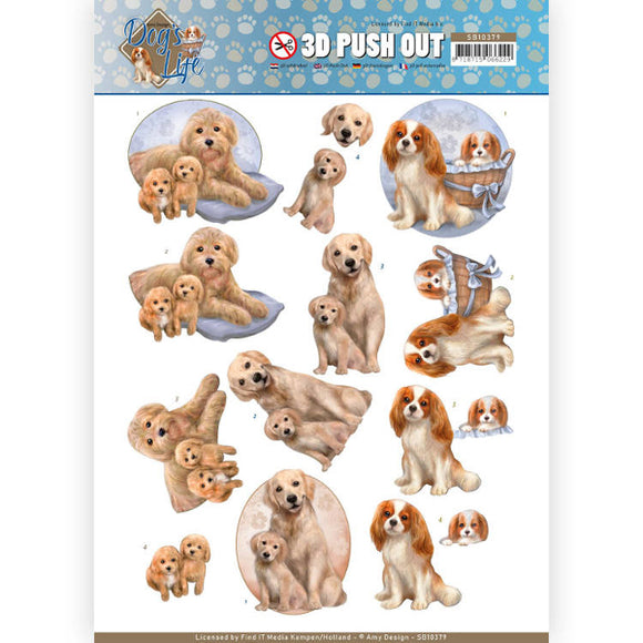 Dog's Life Die Cut Decoupage - Dog Mothers
