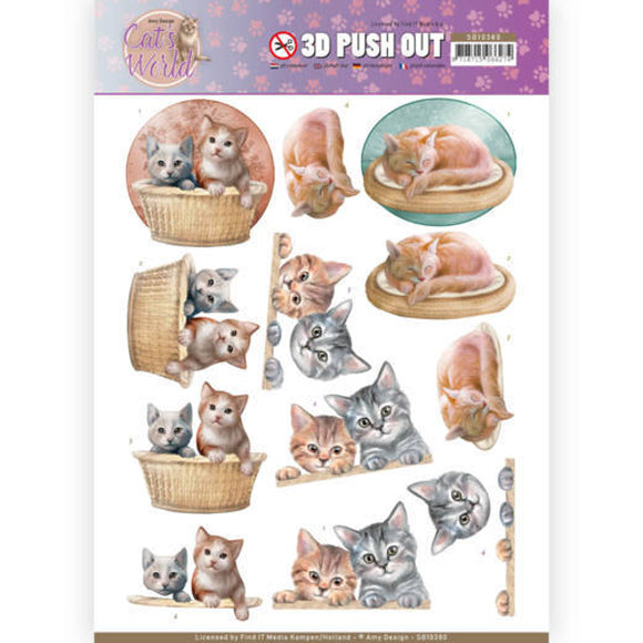 Cat's World Die Cut Decoupage - Kittens