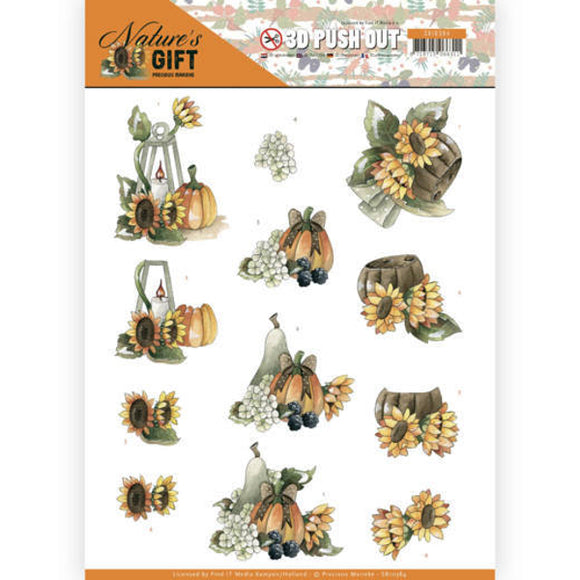 Nature's Gift Die Cut Decoupage - Yellow Gifts