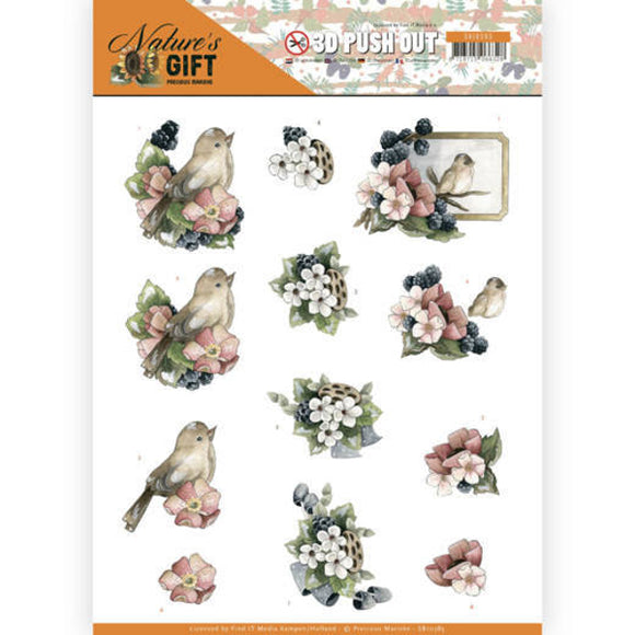 Nature's Gift Die Cut Decoupage - Blue Gifts