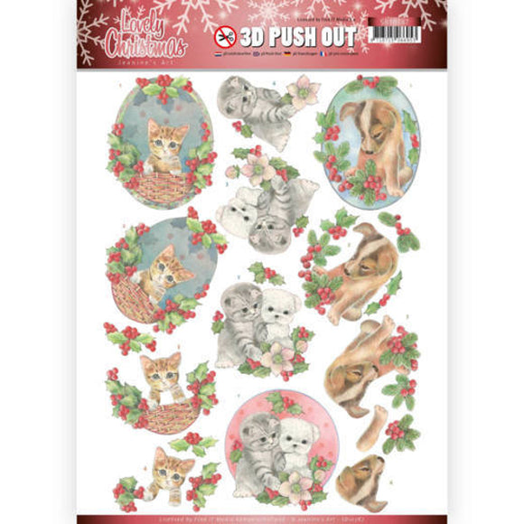 Lovely Christmas Die Cut Decoupage - Lovely Christmas Pets