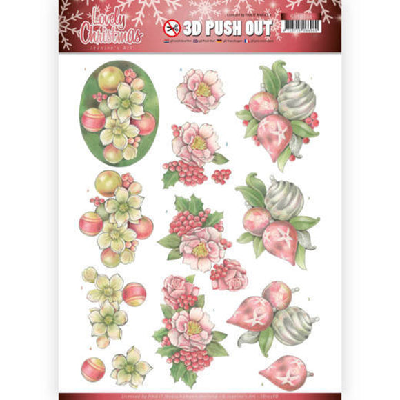 Lovely Christmas Die Cut Decoupage - Lovely Ornaments