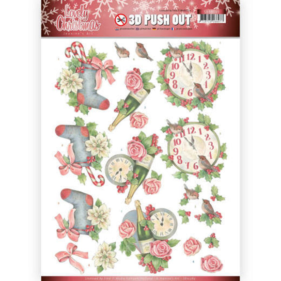 Lovely Christmas Die Cut Decoupage - Lovely Christmas Time