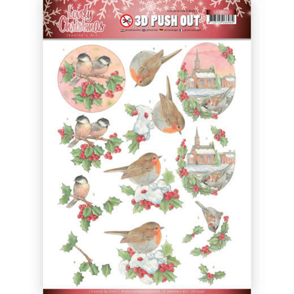 Lovely Christmas Die Cut Decoupage - Lovely Christmas Birds