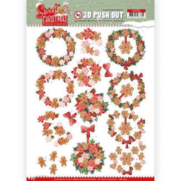 Sweet Christmas Die Cut Decoupage - Sweet Wreaths