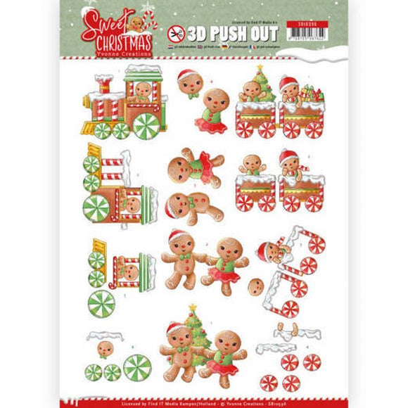Sweet Christmas Die Cut Decoupage - Sweet Cookies
