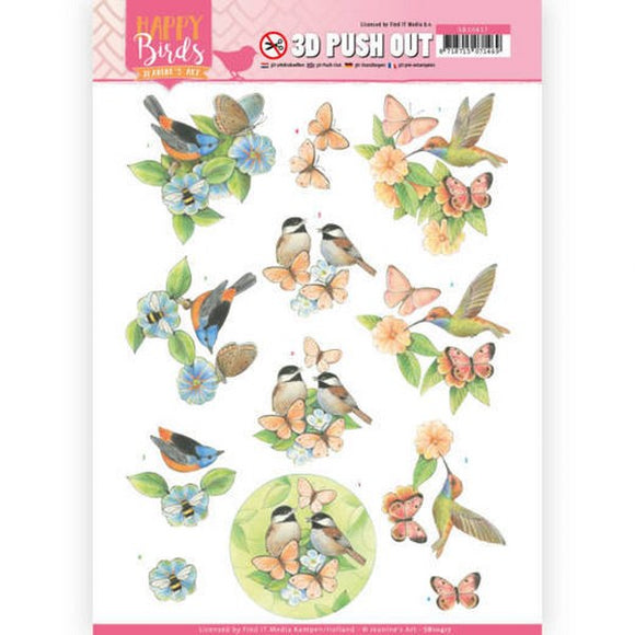 Happy Birds Die Cut Decoupage - Feathered Friends