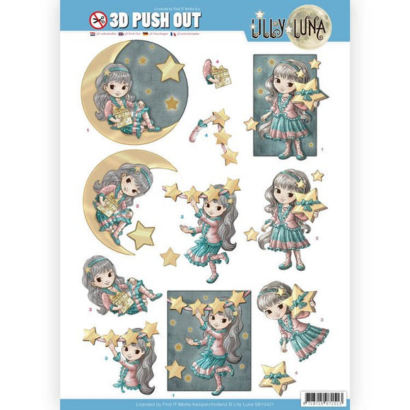 Lilly Luna Die Cut Decoupage - Shine Like a Star