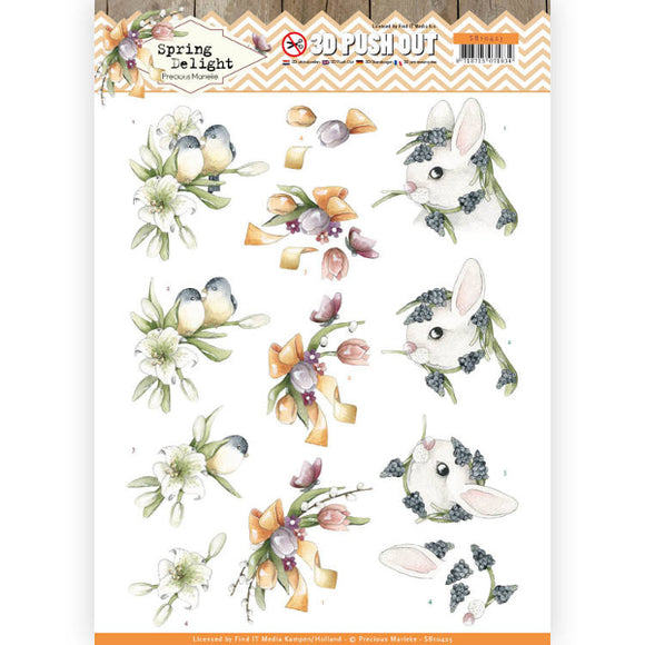 Spring Delight Die Cut Decoupage - Young Animals