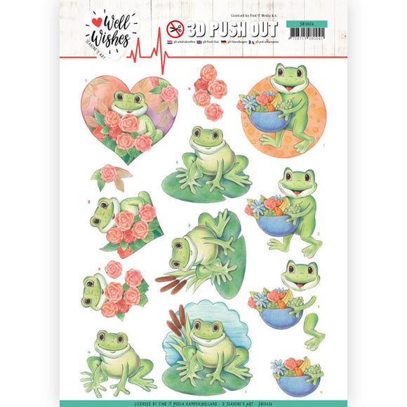 Well Wishes Die Cut Decoupage - Frogs
