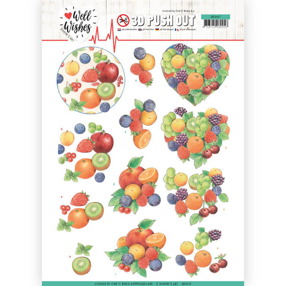 Well Wishes Die Cut Decoupage - Fruits