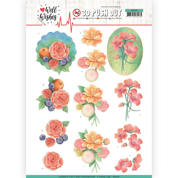 Well Wishes Die Cut Decoupage - A bunch of Flowers