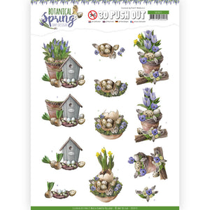 Botanical Spring Die Cut Decoupage - Spring Arrangement