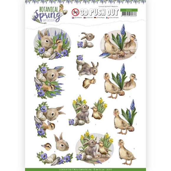 Botanical Spring Die Cut Decoupage - Best Friends