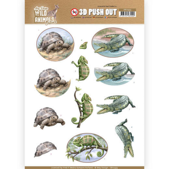 Wild Animals Outback Die Cut Decoupage - Reptiles