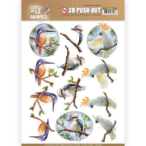 Wild Animals Outback Die Cut Decoupage - Parrot