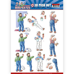 Big Guys Workers Die Cut Decoupage - Handyman