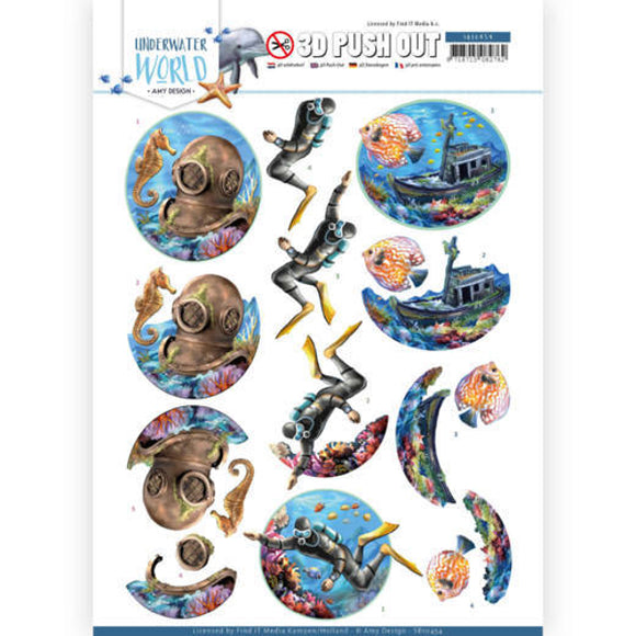 Underwater World Die Cut Decoupage - Deep Sea Diving