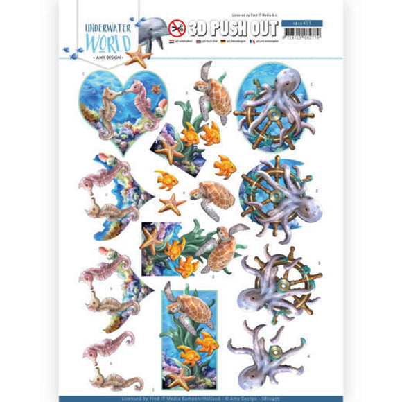 Underwater World Die Cut Decoupage - Sea Animals