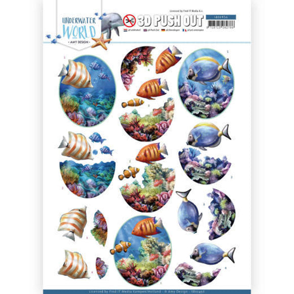 Underwater World Die Cut Decoupage - Saltwater Fish