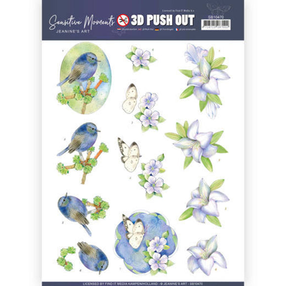 Sensitive Moments Die Cut Decoupage - Lily