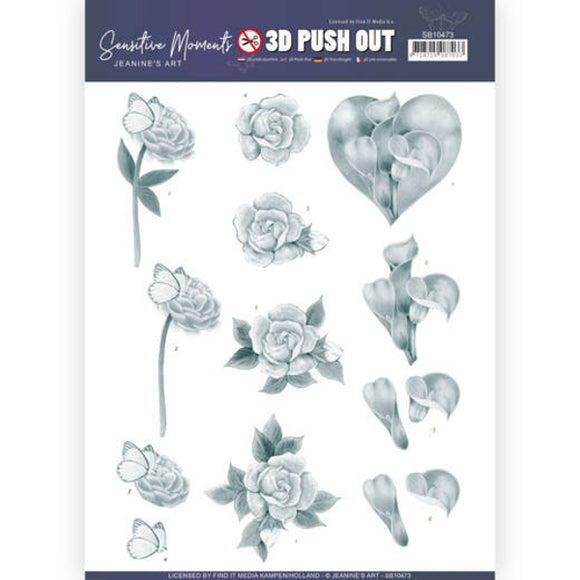 Sensitive Moments Die Cut Decoupage - Grey Calla Lily