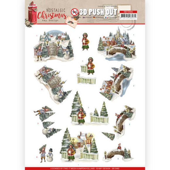 Nostalgic Christmas Die Cut Decoupage - Christmas Village