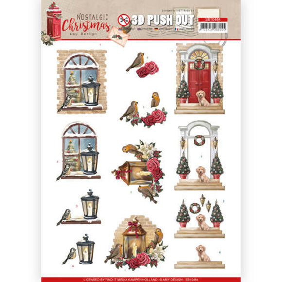 Nostalgic Christmas Die Cut Decoupage - Warm Christmas