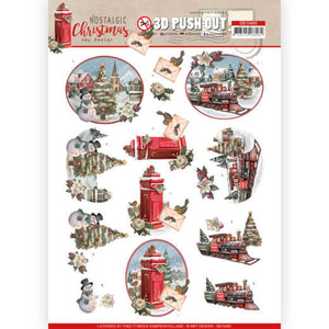 Nostalgic Christmas Die Cut Decoupage - Christmas Train