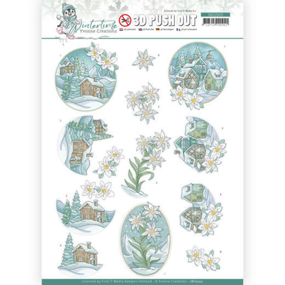 Winter Time Die Cut Decoupage - Edelweiss