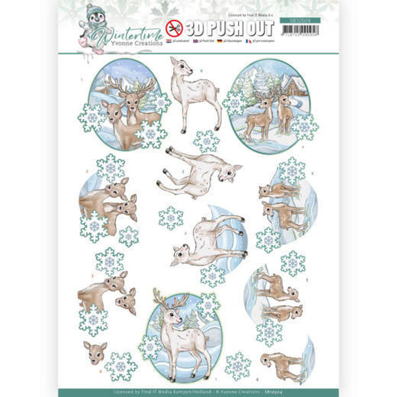 Winter Time Die Cut Decoupage - Deer