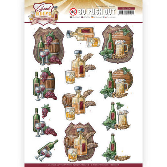 Good Old Days Die Cut Decoupage - Whiskey