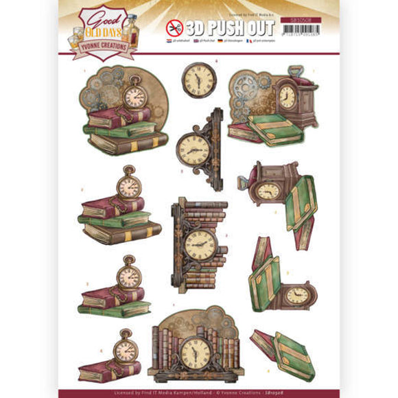 Good Old Days Die Cut Decoupage - Clock