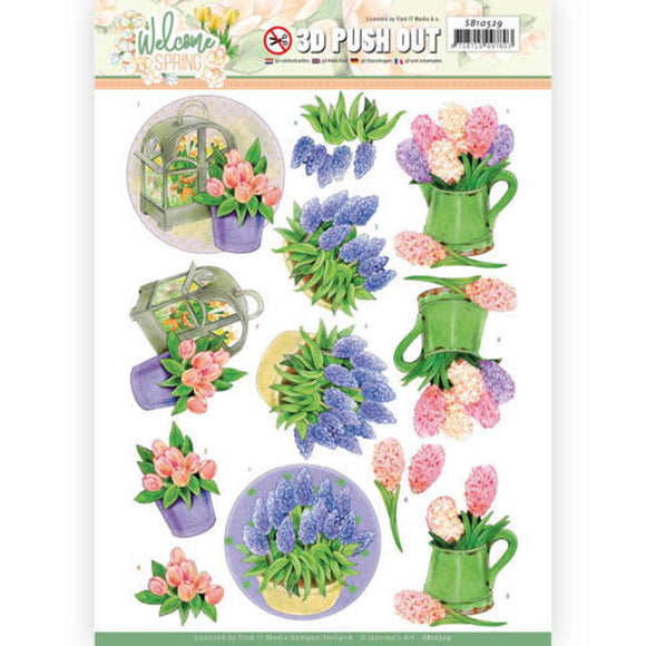 Jeanine's Art Welcome Spring Die Cut Decoupage - Hyacinth