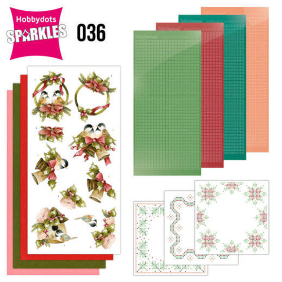 Hobbydot Sparkles Set 36 - A Touch of Christmas - Birds