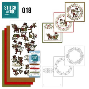 Stitch & Do Kit 018 - Snowman & Reindeer